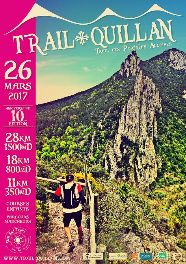 Affiche Trail Quillan 2017