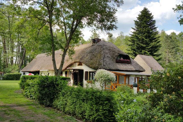 Reetdach - Haus, Vereinsgelände Anglerheim in Zühlsdorf am Lubowsee