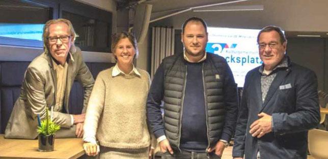 v.l.n.r. Andreas Schattschneider, Reinhard Beckord, Wendy Godt, Hans-Hermann Strandt