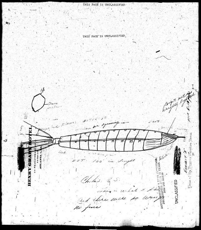 Schizzo dell'oggetto volante non identificato - MAXW-PBB4-35