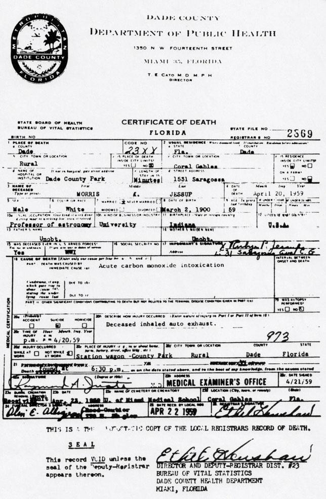Certificato di morte n. 2569