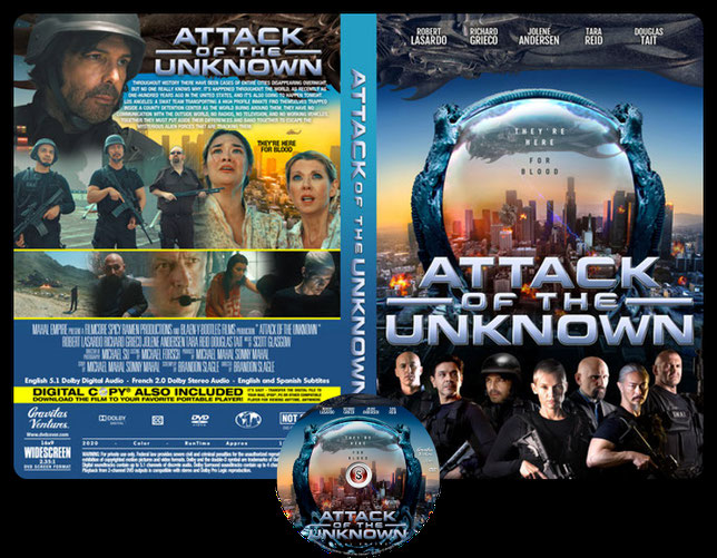 Attack of the unknown Copertina DVD + CD