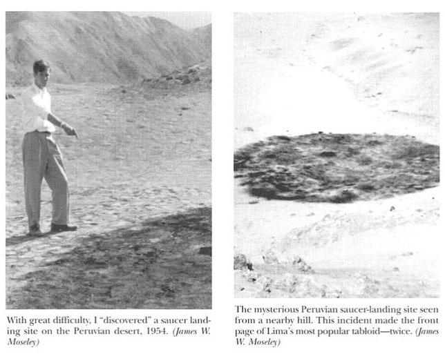 James Moseley sul sito di un presunto atterraggio di un UFO in Perù nel 1954