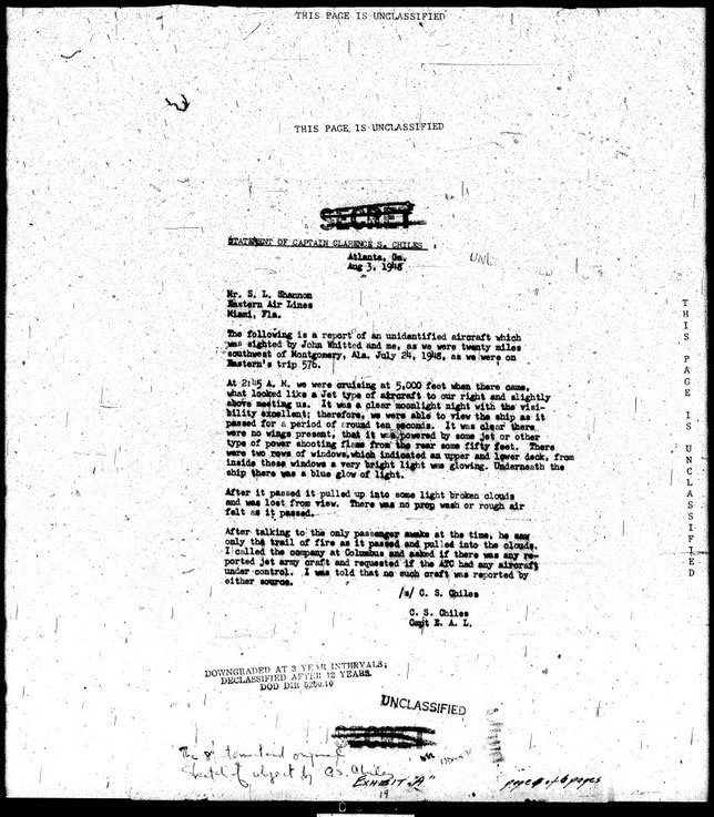 Dichiarazione del pilota Clarence Chiles - MAXW-PBB4-34