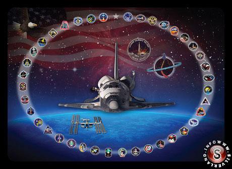 NASA tributo allo Space Shuttle Discovery
