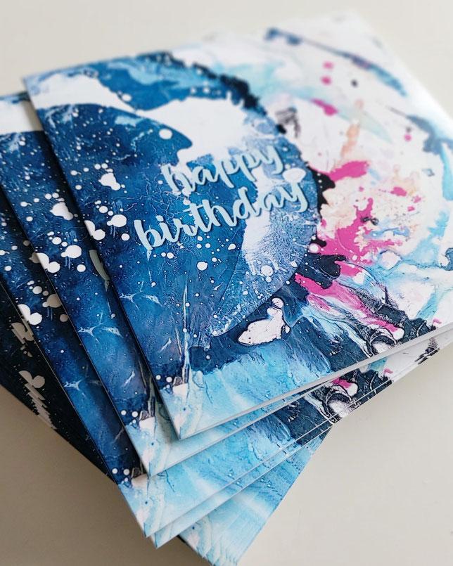 Moderne Geburtstagskarten für persönliche Glückwünsche - UH-ART Design