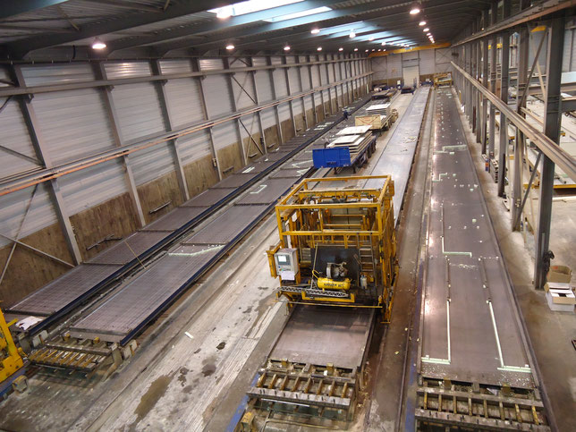 STATIONARY PRODUCTION LINES FOR CONCRETE SLABS