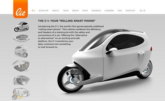 Lit Motors C-1 Website