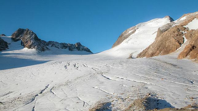Le glacier de St Sorlin et le Pic de l'Etendard. Photo ©Claude Garnier