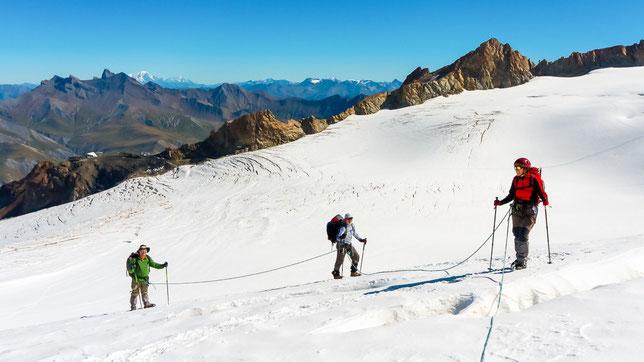 Randonnée sur le glacier de la Girose