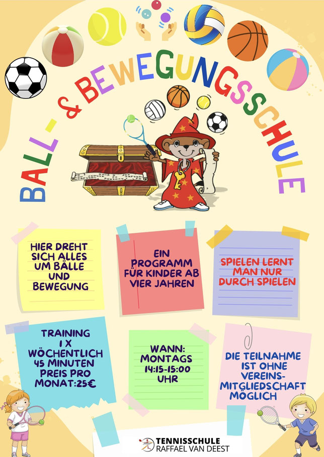 Tennisschule Raffael van Deest Ball- und Bewegungsschule TNB
