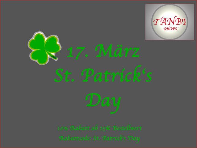 St. Patrick's Day, 17. März, Rabatt 10%