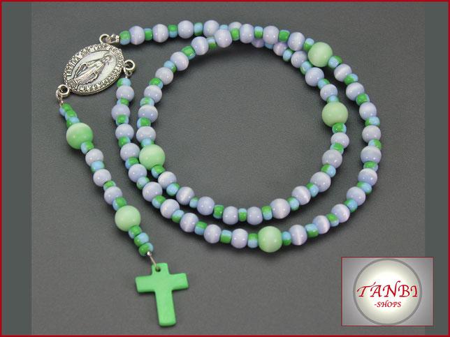 Kinderrosenkranz-Rosenkranz-Kind-Junge-Kommunion-Geschenk-Erstkommunion-blau-grün