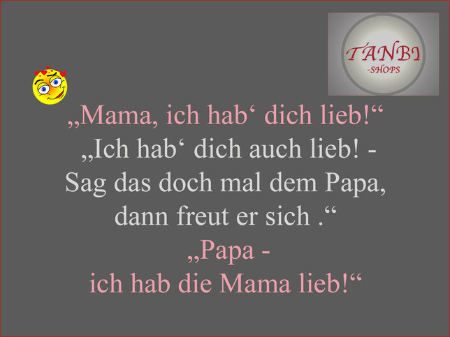 Mama, ich hab dich lieb, Kinderspruch, TANBI-shops