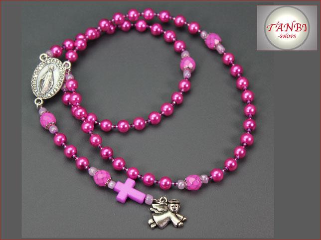 rosenkranz, Kinderrosenkranz, Rosenkranz-lang, Mädchenrosenkranz Rosenkranzkette, 24.99