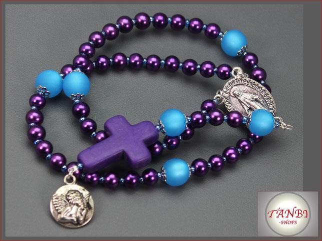 Rosenkranz, Kinderrosenkranz, Rosenkranz-lang, Mädchenrosenkranz Rosenkranzkette, Kreuz, Enel, 27.99