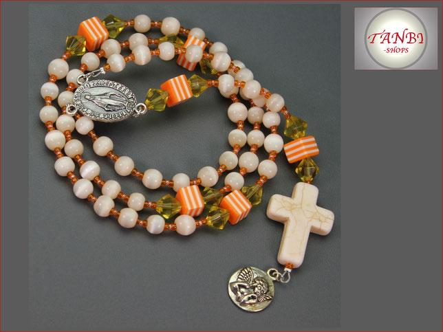 Rosenkranz, Kinderrosenkranz, Rosenkranz-lang, Mädchenrosenkranz Rosenkranzkette, 28.99