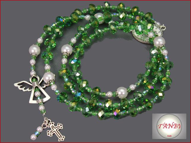 kinderrosenkranz-rosenkranz-engel-schutz-kreuz-talisman-geschenk-einschulung-taufe