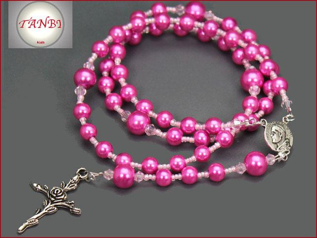 kinderrosenkranz-rosenkranz-rosenkranzkette-rose-kreuz-pabst-pink-rosa
