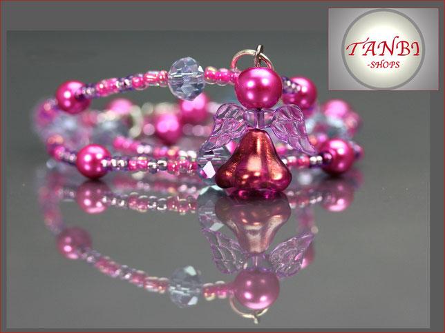 Kinderkette, Engel, Kette, pink, rosa, 12,99