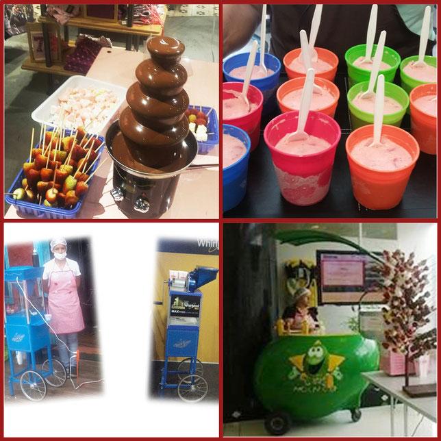 Alquiler fuente de chocolate medellin, carrito de mango medellin, maquina de raspados alquiler medellin, maquina de raspados alquiler bogota, alquiler maquina de graniados