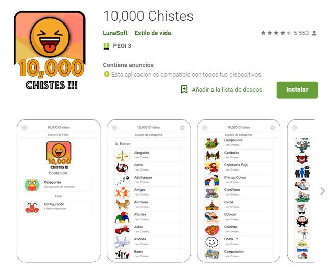 10000 chistes app