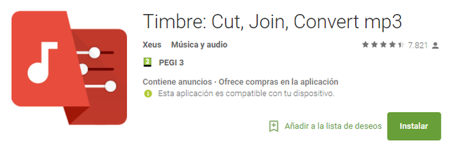 Editar Audio En Android Con Timbre: Cut Join Convert MP3