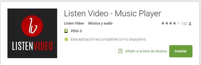 Listen Video - Ahora disponible en Android