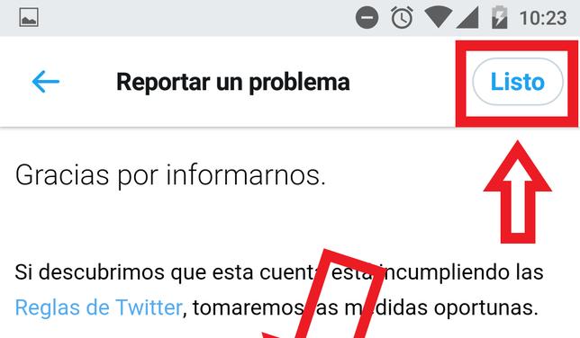 Cómo Denunciar Una Cuenta De Twitter En Android