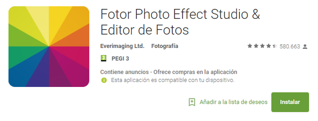 Fotor Photo Effect Studio & Editor de Fotos