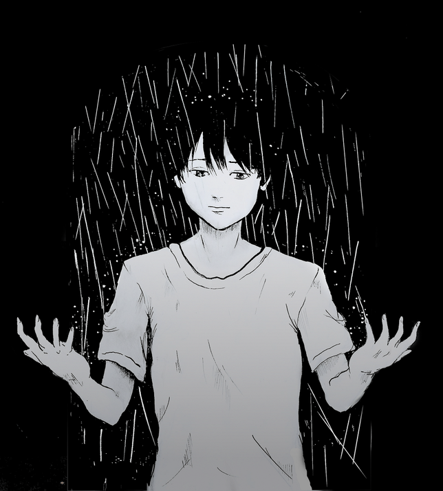 Reproduction d'une case du manga Aku no hana