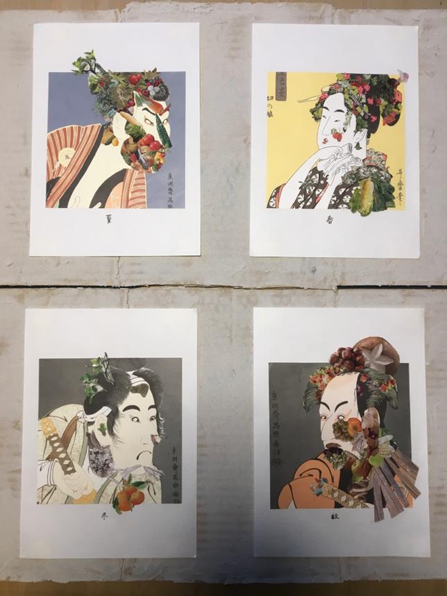 collage giuseppearcimboldo×ukiyoe 2018年制作 コラージュ