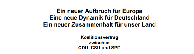 07.02.2018 - Koalitionsvertrag von CDU/CSU und SPD