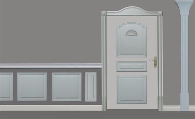 encadrement du porte en polyurethane