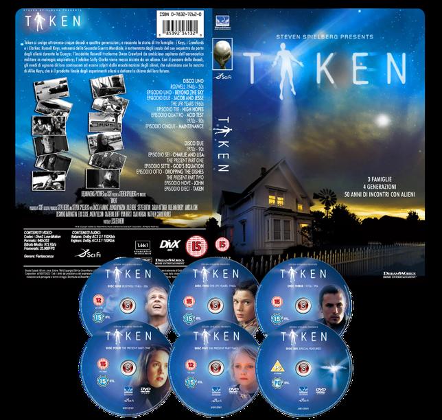 Taken Copertina DVD + CD