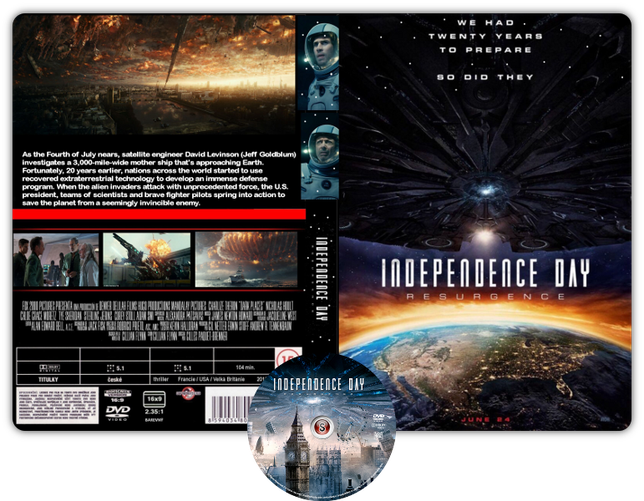 Independence day resurgence - Copertina DVD + CD