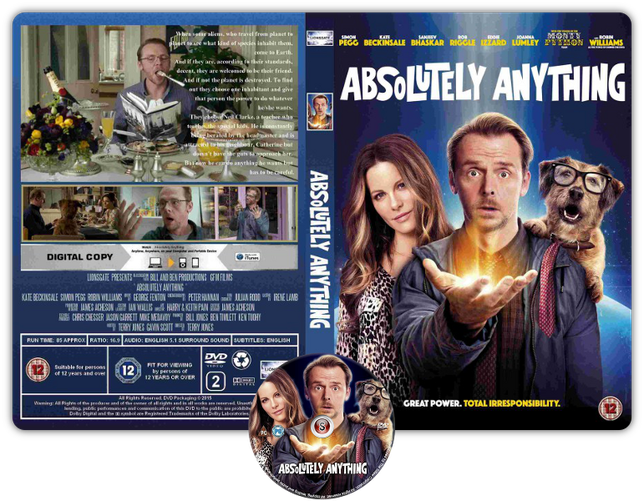 Un'occasione da Dio- Absolutely Anything - Copertina DVD + CD