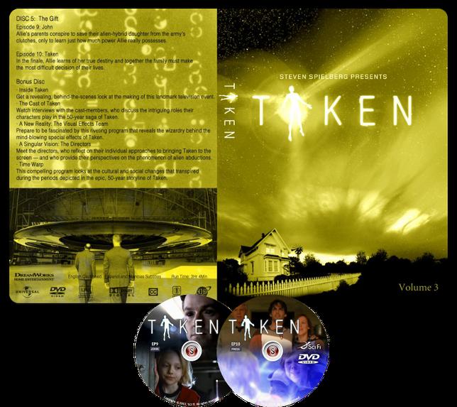 Taken Copertina DVD ep. 9 10