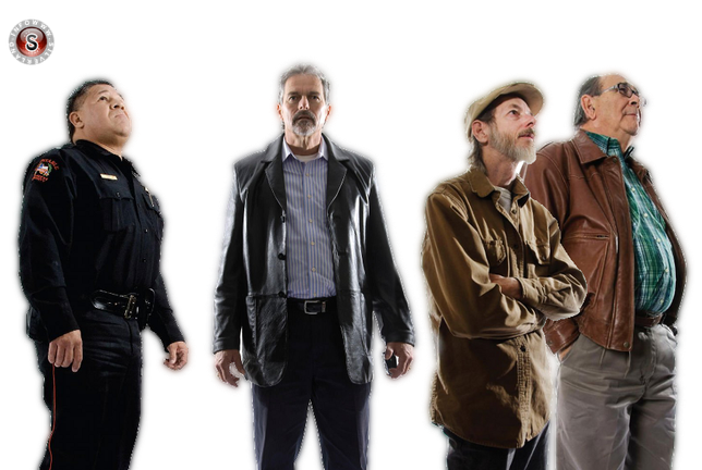 Alcuni testimoni, da sinistra a destra Lee Roy Gaitan - Steven Allen - James Huse - Mac McKinnon