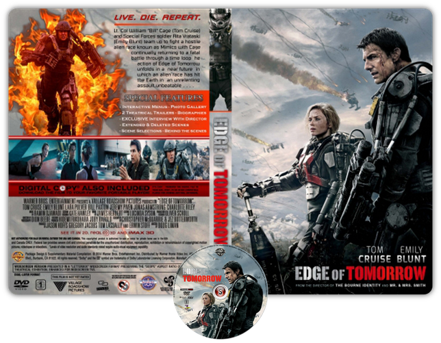 Edge of tomorrow - Copertina DVD + CD