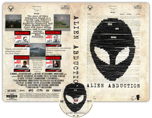 Alien abduction - Copertina DVD + CD