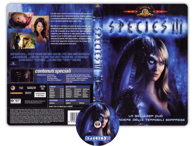 Species 3  - Copertina DVD + CD