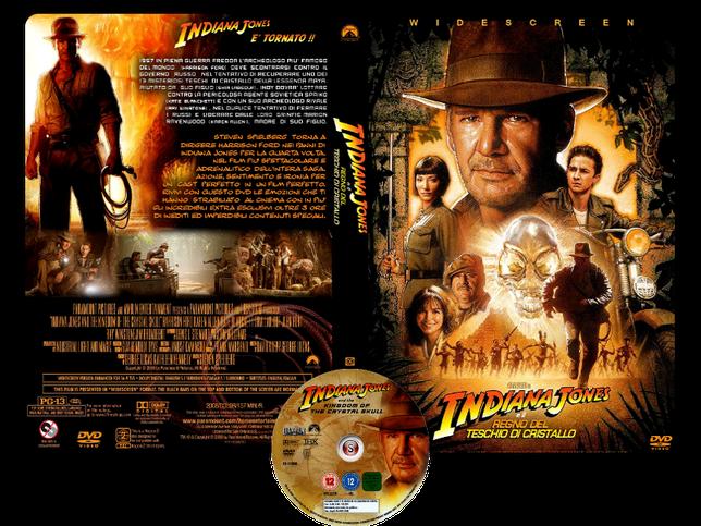 Indiana Jones e il regno del teschio di cristallo - Indiana Jones and the Kingdom of the Crystal Skull - Copertina DVD + CD