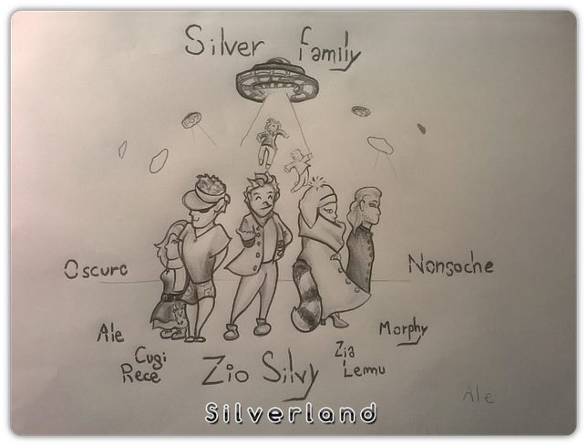 Silver family ( chat ) - by Ale