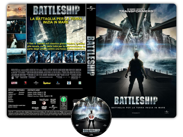 Battleship - Copertina DVD + CD