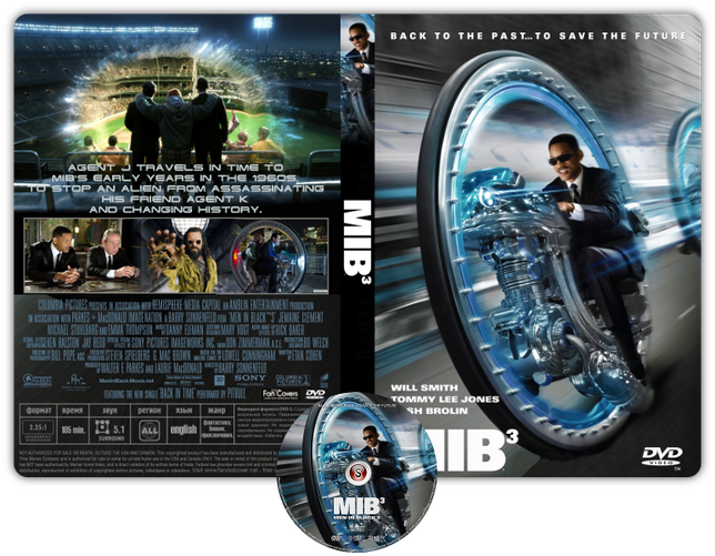 Men in black 3 - Copertina DVD + CD