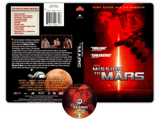 Mission to Mars Copertina DVD
