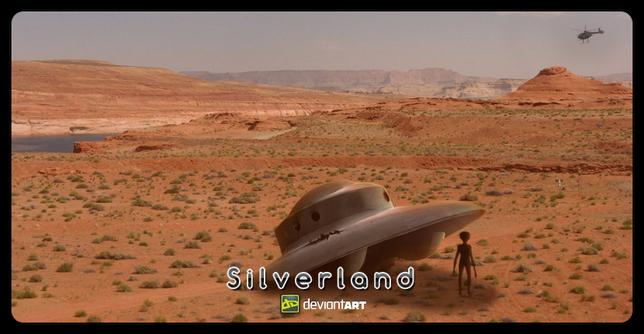 Desert UFO Crash - by Thyrring