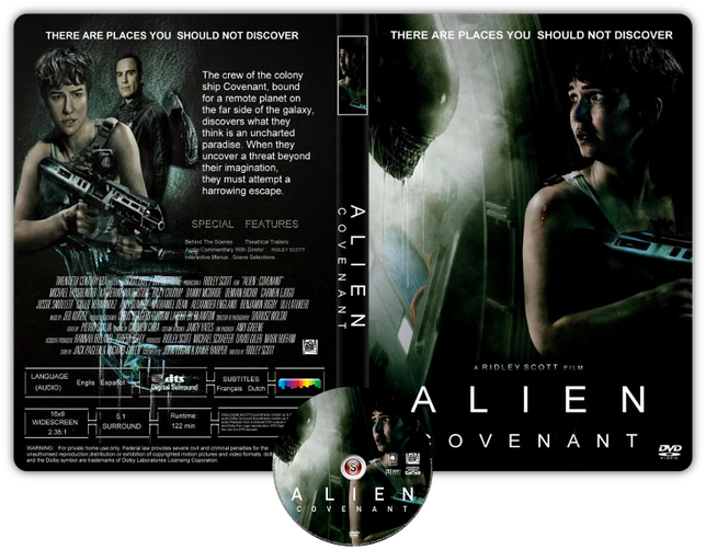 Alien Covenant - Copertina DVD + CD