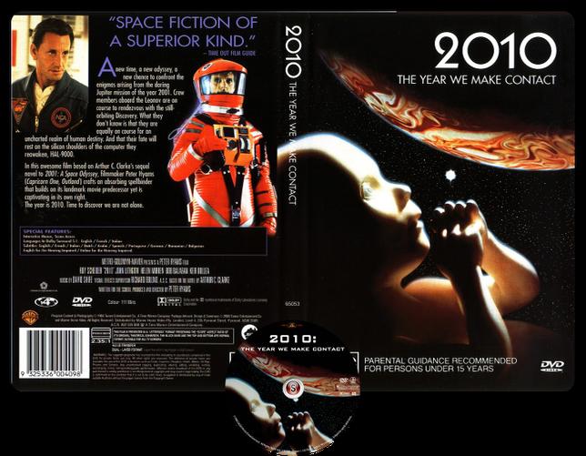 2010 L'anno del contatto - Copertina DVD + CD